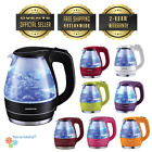 Ovente KG83 1.5L Glass Cordless Electric Kettle BPA-Free wit