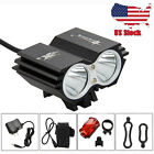 SolarStorm 8000Lm 2x T6 LED Front Head Bicycle Bike Light 4x18650 Headlight