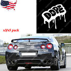 "3/5 Silver Funny Vehicle Window Vinyl Decals ""DOPE"" JDM Hellaflush Sick Stickers"