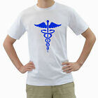 New EMT Paramedic Medical Badge for Men's White T-Shirt FREE SHIPPING