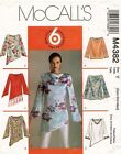 McCall's Misses' Top and Tunic Pattern M4382 Size XS-M UNCUT