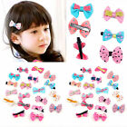 10/20/30pcs Baby Toddler Girl Hair Clips Ribbon Bow Kids Satin Bowknot Headbands