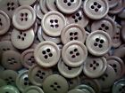 18mm 28L Light Fawn Brown Speckled 4 Hole Craft Button Buttons 100 Pack SC13