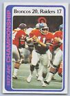 1978 - 1977 AFC CHAMPIONSHIP GAME - Topps Ft Card- #167 -BRONCOS 20 - Raiders 17