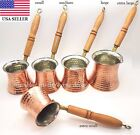 Внешний вид - Turkish Hand Hammered Stove Top Copper Coffee Pot Wooden Handel Ibrik Cezve