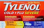 Tylenol Cold + Flu Severe Acetaminophen Caplets Day & Night Fever Cough Reducer
