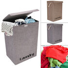 Large Laundry Basket Washing Clothes Storage Folding Basket Bin Hamper With Lid