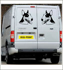 English BullTerrier - Wall Van Car sticker decal- 2 stickers face to face