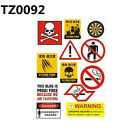 Warning logo  stickers waterproof Sunscreen Removable PVC CAR stickers