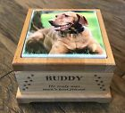 Pet Urn - Dog/Cat/Other - Laser Engraved - Sublimated Photo Tile - Red Alder