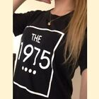 New  Women Tshirt THE 1975 Letters Print Casual Funny Shirt For Lady  Top Tee