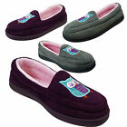 JYOTI Ladies Womens Luxury Soft Comfy Velour Owl Moccasin Deep Lilac Slippers
