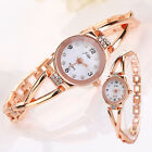 Rose Gold Women Bracelet Watches Charismatic Plated Alloy Rhinestone Wrist Watch