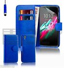 32nd Book Wallet PU Leather Case Cover for Alcatel Phones + Screen Protector