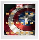 Lego Minifigures Display Case Picture Frame Marvel Captain America Shield