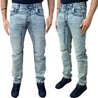 New Mens Designer Eto Light Acid Wash Anti Fit Denim Jeans