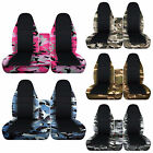 CC Ford f150 40-60 seat highback camo black center car seat covers+console cover