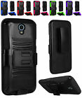 WHOELSALE 5X LOT For ZTE Avid Trio ZTE Cheers Side Kickstand Holster Cover Case