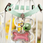 1pc Pet Hot Necklace Dog Cat Waterproof Neck Collar With Safety Bell & Name Tags