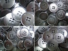 18mm 23mm 25mm 30mm Gunmetal Silver Grey 4 Hole Industrial Buttons (MB3-MB6) X