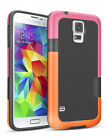 Hybrid Impact Defender 3 Color Rugged Case Soft PC Bumper for Samsung Galaxy S5