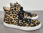 Charlotte Olympia Purrrfect Leopard Print Calf Hair High Top Sneakers Rare