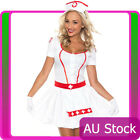 Ladies Nurse Uniform Doctor Medical Fancy Dress Up Hens Party Costume Outfit