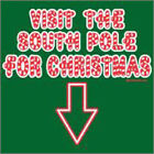 Visit the South Pole for Christmas Santa FUNNY MENS Holiday T-SHIRT  XMAS