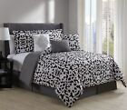 11 Piece Fara Black/White Bed in a Bag Set
