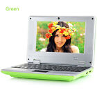"""7"""" Android WIFI Mini Notebook 4GB/8GB Laptop Camera Netbook Keyboard Quad Core"""