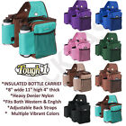 TOUGH-1 TRAIL DELUX HEAVY DUTY SADDLE BAG W/ INSULATED WATER BOTTLE GEAR HOLDER