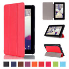 Shockproof Stand Leather Folio Hard Protector Case For Amazon Kindle Fire 7 2016