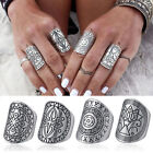 Women Antique Silver Gypsy Bohemian Boho Totem Carved Finger Ring Retro