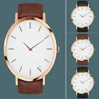 CHIC New Fashion Brand Women/Men Casual Quartz Gold Leather Band Wrist Watches