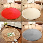 1M Fashion Round Area Rug Shaggy Floor Mat Living Room Bedroom Carpet Pads