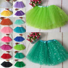 Girls Kids Tutu Skirt Party Ballet Dance Wear Dress Pettiskirt Costume 16 Colors