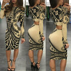 USA Women's Bandage Bodycon Long Sleeve Evening Party Cocktail Pencil Mini Dress