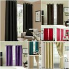 THERMAL BLACKOUT PAIR CURTAINS READY MADE EYELET RING TOP