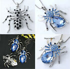 Silver Plated Crystal Rhinestone Spider Bead Pendant for Necklace Popularity New