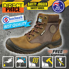 NEW Safety Jogger Boots Work Brown Steel Toe Leather Shoes Dakar ShockProof Soft