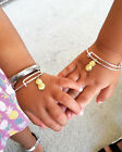 Kids Pineapple Charm Bangle Baby Adjustable Bracelet Gold Silver Tropical Gift