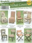 Simplicity 5952 Chair Covers   Home Decor Sewing Pattern