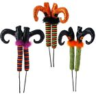 """26"""" Posable Witch Legs Boots on Stake Halloween Decor Raz Imports Choose Color"""