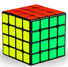 QiYi WuQue 4x4x4 62mm SPEED CUBE in Black, Stickerless Bright, White