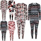 Ladies Christmas Aztec Scarf Womens Pudding Reindeer Tartan Elf Tracksuit Set
