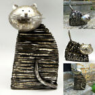 Metal Cat Ornament Sculpture Statue Figurine Garden Home Ornaments Quality Gift