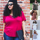 Plus Size Women's Loose short Sleeve T-shirt Casual Summer Tops Blouse Tee Solid