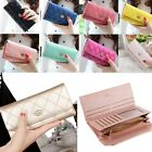 Fashion Women Ladies PU Leather Clutch Wallet Card Holder Long Purse Handbag