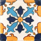 "#C004 MEXICAN TALAVERA 4x4 "" TILES FOLK ART HAND PAINTED TILES HANDMADE"