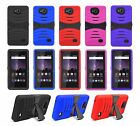 For ZTE Tempo N9131 Armor Hard Case Cover w/ Tempered Glass Screen Protector